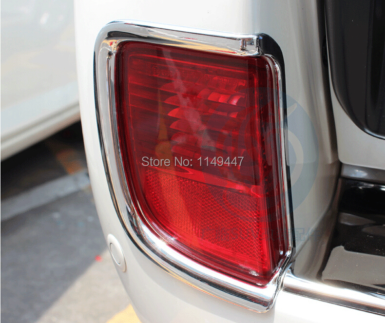 Для Toyota Lander Cruiser 200 LC200 2008 2009 2010 2011 2012 2013 задний противотуманный фонарь лампа крышка Накладка 2 шт. Авто украшения