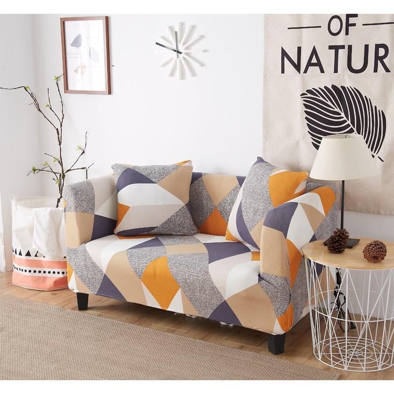 Spandex elástico geométrico Universal cubierta de sofá en forma de L fundas todo incluido Protector elástica sofá caso habitación