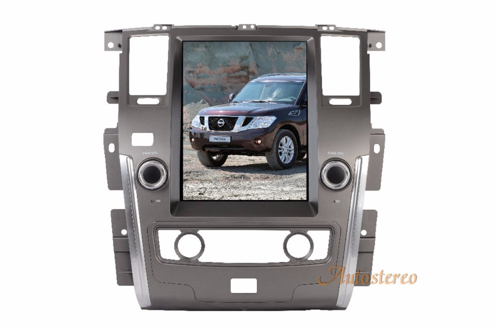 Pure Android Tesla style Car No DVD Player GPS Navigation Radio for NISSAN PATROL 2010 2017 car pad stereo multimedia SATNAV