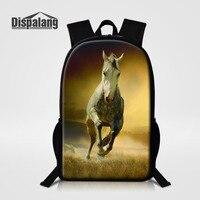 Dispalang Large School Bags For Teenagers Lightweight Oxford Women Backpack Horse Print Mochila Feminina Boys Children Schoolbag