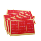 750pcs/Lot New Red Thank You Bow Rectangle Adhesive DIY Packaging Sealing Label Sticker Valentine's Day Gift Stickers Wholesale