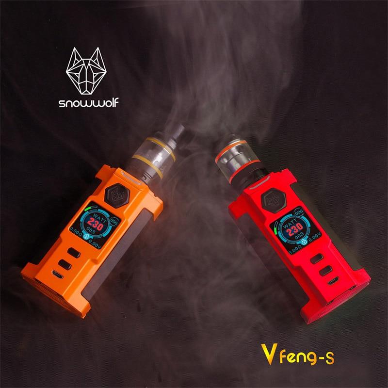 Sigelei Snowwolf Vfeng S поле Mod Kit 230 Вт Mod Elecctronic сигареты комплект 2,8 мл бак цинковый сплав + пластик Vape Mod Наборы - 6