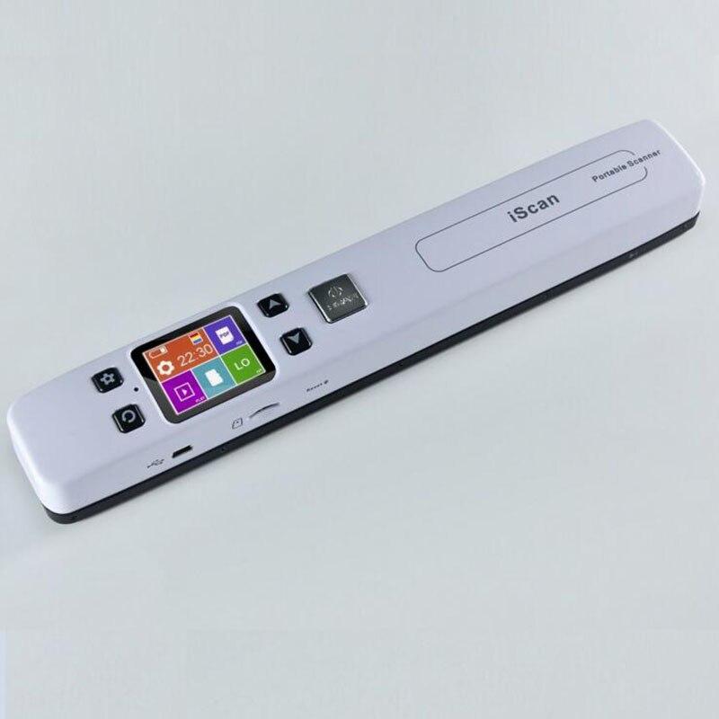 Беспроводной портативный сканер формата А4, Wi-Fi, с нулевым запасом, цветной большой экран высокой четкости