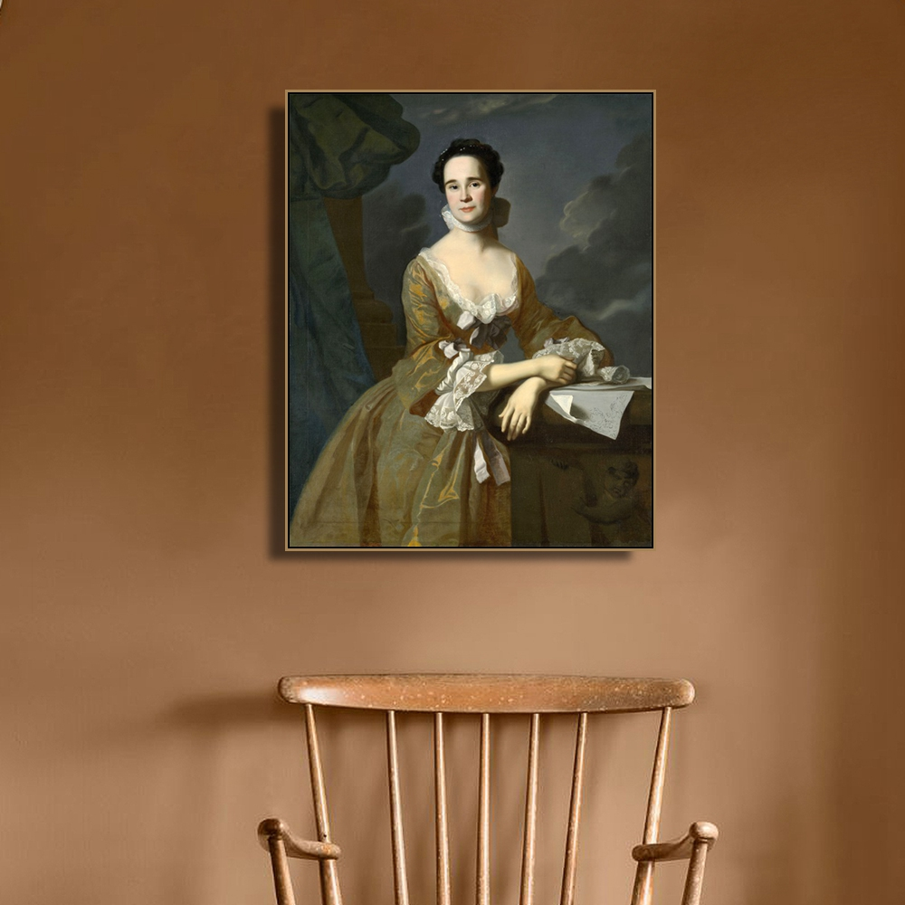 Mrs Daniel Hubbard by Copley Wall Art Poster Print Canvas Painting Calligraphy Decorative Picture for Living Room Home Decor in Painting Calligraphy from Home Garden