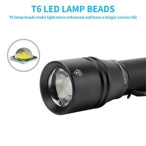 Image 5 - BORUiT YC25 T6 LED el feneri yüksek güç 1000lm meşale 5 Mde Zoom bisiklet ışığı güçlü fener 18650 tip c şarj edilebilir lamba