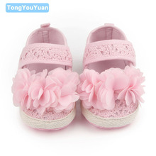 New Design Baby Shoes Cotton Fretwork Shallow Flower Non slip Baby Girl Princess Shoes For 0