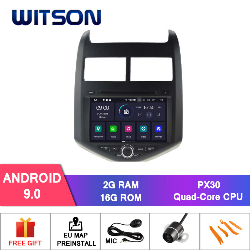 WITSON Android 9.0 IPS HD Screen for CHEVROLET AVEO SONIC GPS CAR DVD RADIO 4GB RAM+32GB FLASH 8 Octa Core+DVR/WIFI+DSP+DAB+OBD retroviseur android 9.0