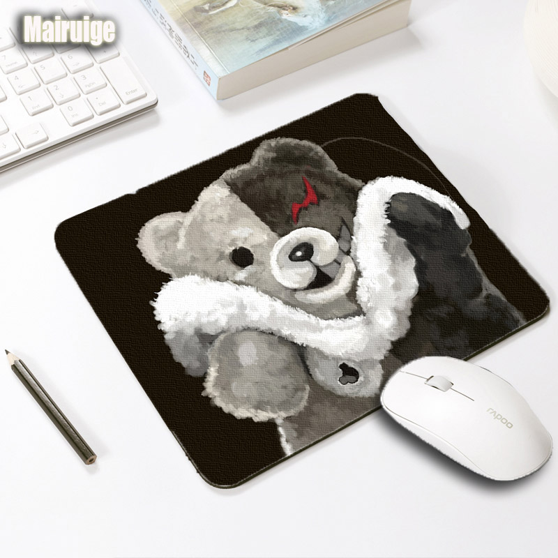Mairuige Creative Diy Mouse Pad Danganronpa Monokuma Mousepad 250x290x2MM Anime Game Pad Washable Anti-skid Rubber Table Mats