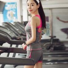 YEEBIN Running Shorts With Sports Bra Tank Yoga Clothing Suits Set Fitness Clothing Vest Tracksuit Set Sportswear Workout Set