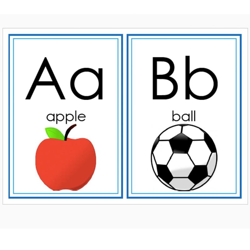 13pcs  set english 26 letters alphabet flash cards a4