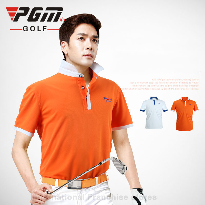 PGM Brand Men Top Polo Shirt High Quality Short Sleeve Quick Dry Tennis TShirt Summer Compression Running Sport Golf Shirts 2018