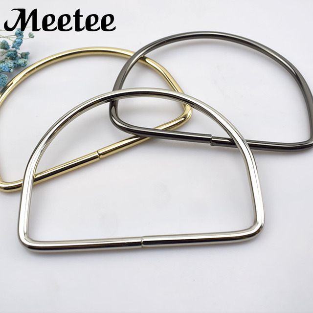 2pcs D Rings Metal Bag Handle Buckles For Women Handbag Lock Decoration Shoulder Bags Kiss Clasp