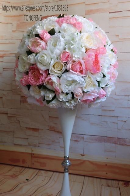 Wedding decorative artificial silk rose peony flowers table wedding decorative artificial silk rose peony flowers table centerpiece decoration 23 round flower ball mightylinksfo