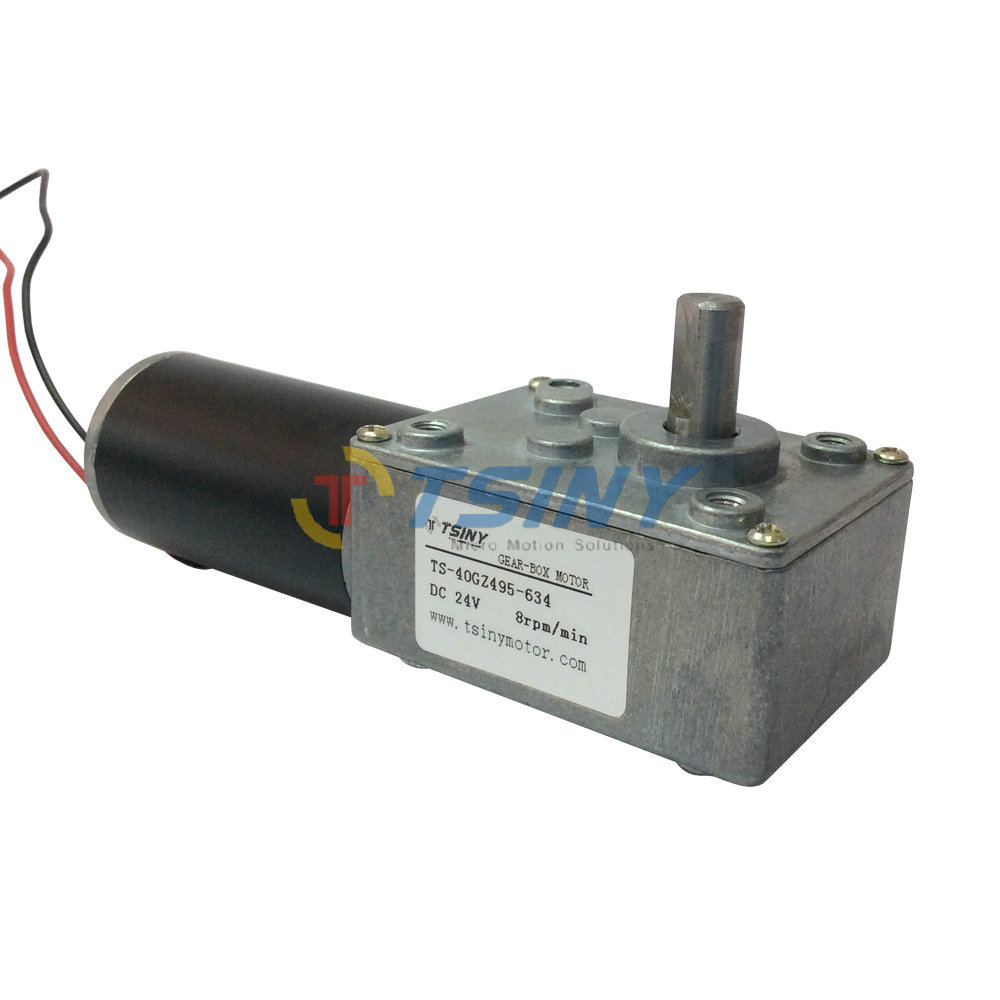 TSINY Metal Gear Motor 24V DC Geared Motor High torque 8 RPM Low Speed Manufacturers sales 250 40 250 1 6 25 4