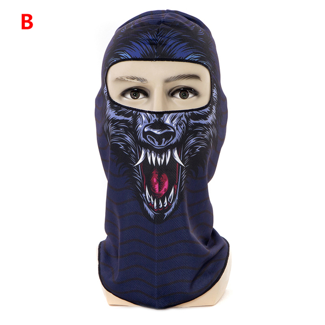1pcs 3D Outdoor Sport Creative Mask Anti-UV Bicycle Riding Face Scarf Scarves Breathable Headband Protect Full Face Mask 3