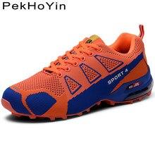 cb39b8932 Большие размеры 47 осенние уличные дышащие Для мужчин повседневная обувь  брендовые модные кроссовки обувь Air Мужская