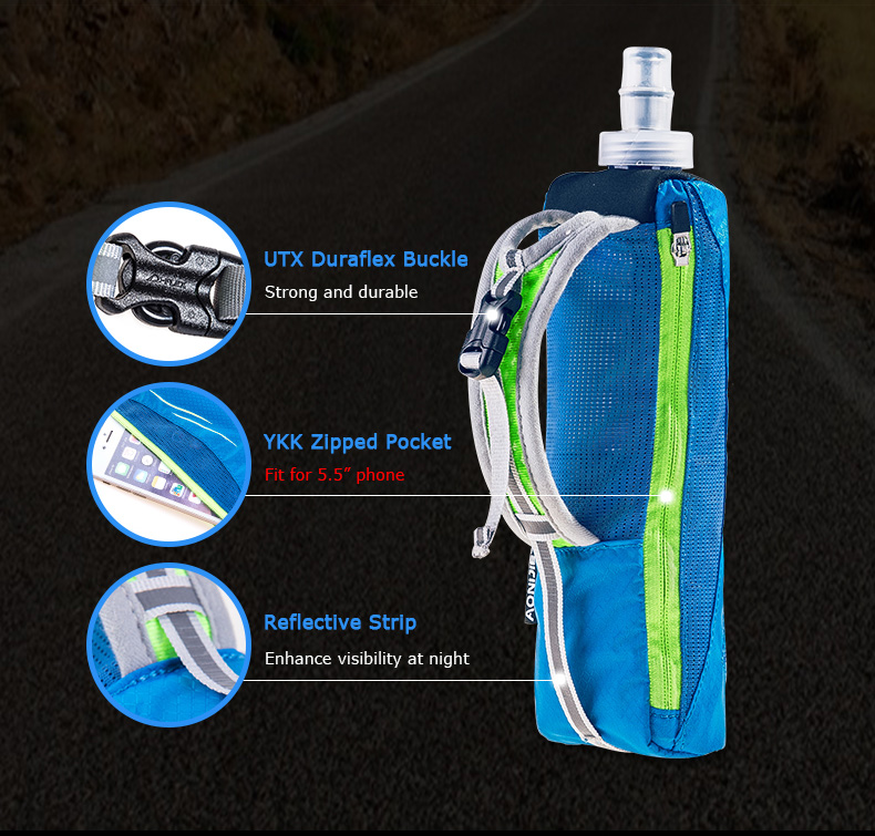 Kettle Pouch BLACK Aonijie E908 Lightweight Hand Carry 500ml Water Bottle