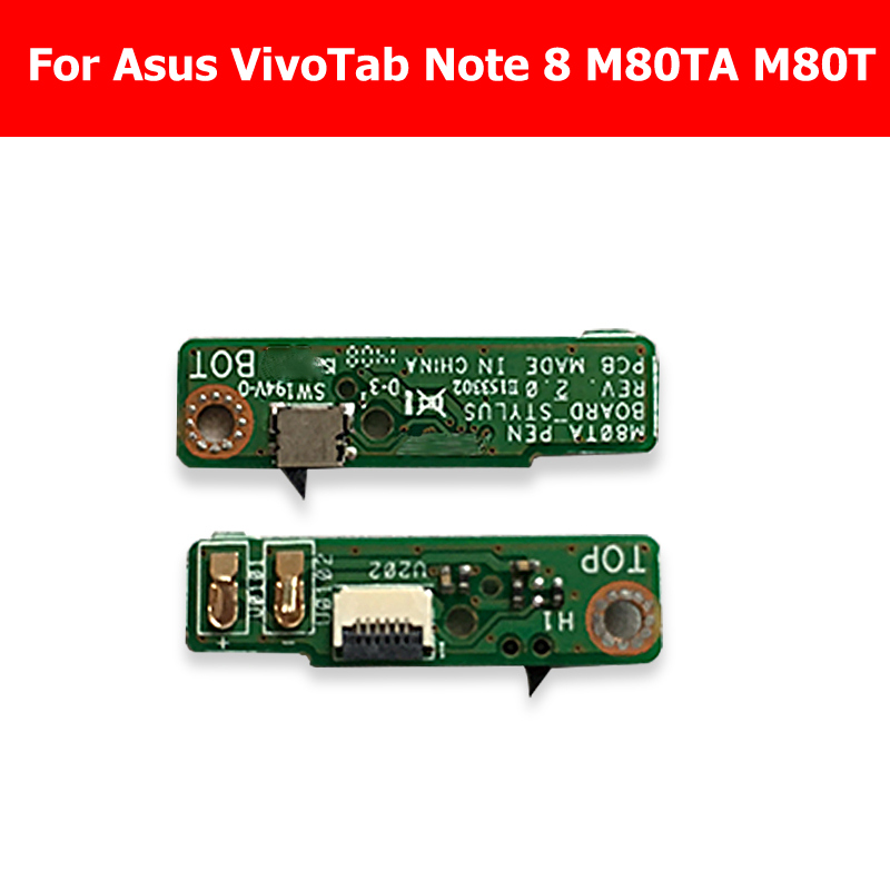 Genuine pen sensor connector <font><b>board</b></font> For Asus VivoTab <font><b>Note</b></font> <font><b>8</b></font> M80TA M80T drawin <font><b>board</b></font> tab Replacement Repair M80TA_PEN_<font><b>BOARD</b></font>_STYLUS image