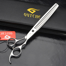 Professional 8inch 7CR Stainless Steel Big Teeth Pet Thinning Scissor Dog Hair Cut Tool Pet Shear Grooming 9inch professional shark teeth fishing bone pet thinning hairdressing scissor pet grooming shear tesouras hairstyle tool