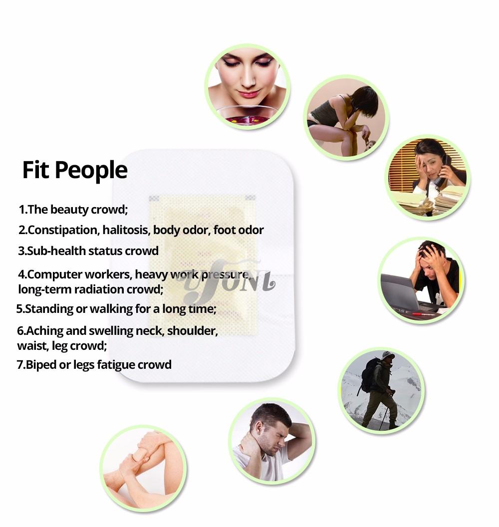 Retail box GOLD Premium Kinoki Detox Foot Pads Cleanse Energize Your Body(1lot=10Box=0pcs=100pcs Patches+100pcs Adhesive) 17 14