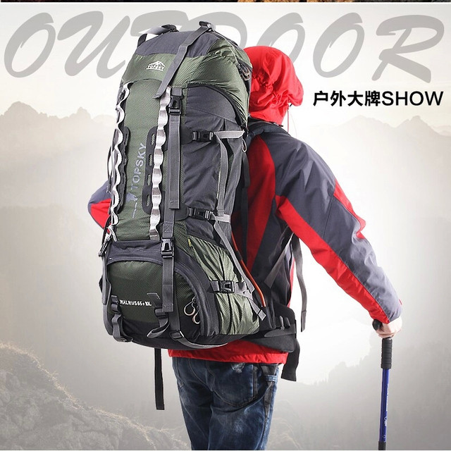 a6c9159c64b4 Topsky 75L sport backpack climbing Hiking backpack Men women Travel Luggage  large capacity sports bags Free Shipping