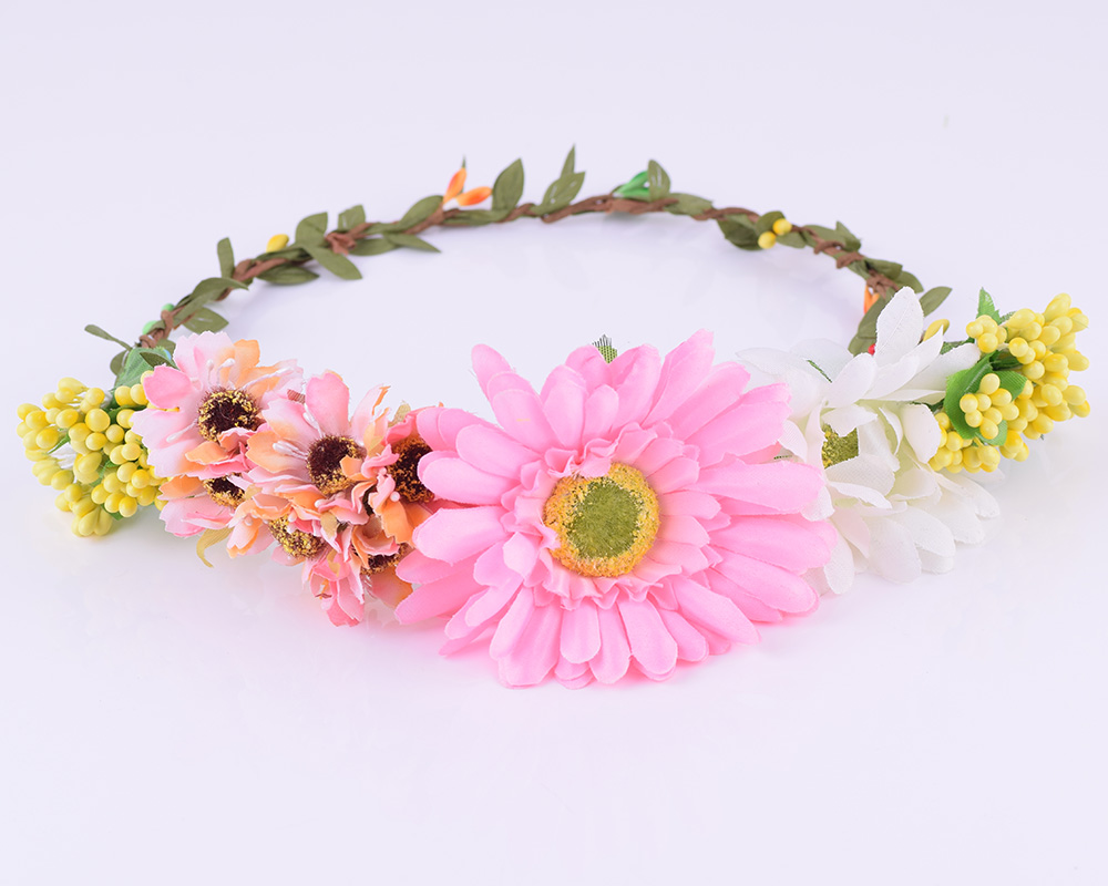 Cxadditions Woman Flower Headband Rose Flower Crown