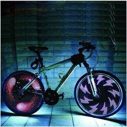 Leadbike велосипедный фонарь, двойной дисплей, 21 флеш-узор, 32 RGB светодиодные лампы для велосипедов, ночной езды, бесплатная доставка
