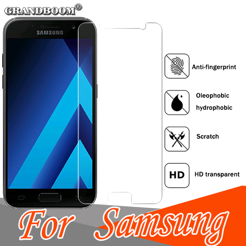 1000pcs 9H Tempered Glass Premium Guard Shield For Samsung J3 J5 J7 2017 2016 Screen Protector Toughened Protective Glass Film
