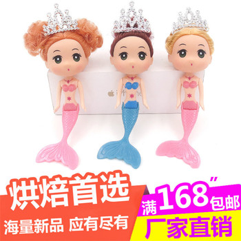 3pcs/lot Fashion Creative gifts Confused doll cake baking body babyface veil crown factory direct deal image