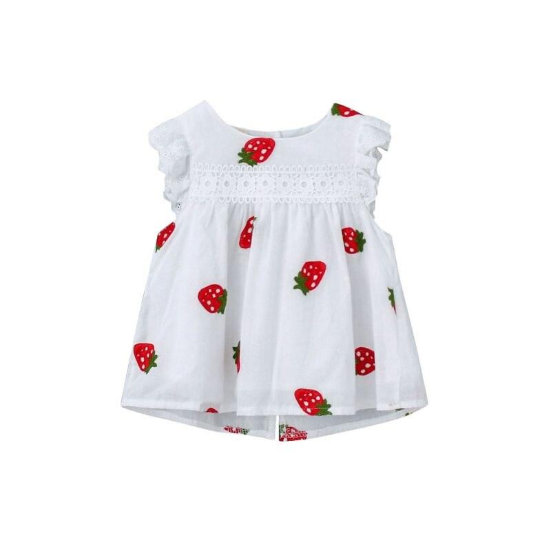 Kids Baby Girl Dress Summer Print Cotton Dress Infant Children Girls clothing