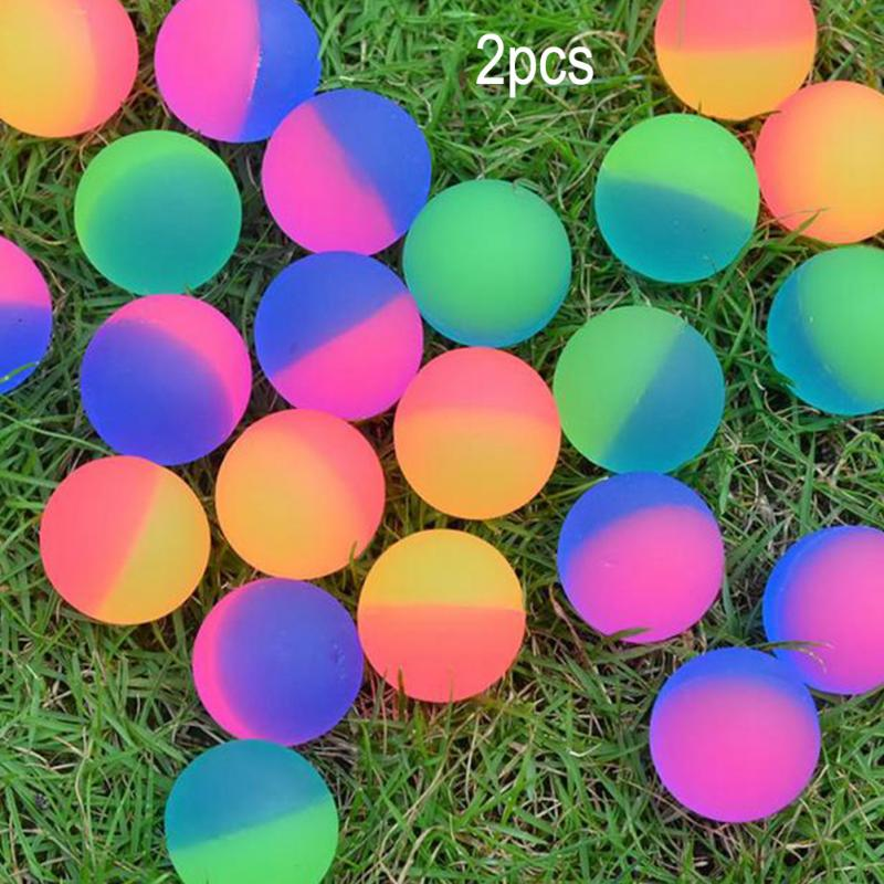 2PCS Colorful Matte Flashing Bouncing Ball Toy Luminous Bouncing Ball Toy For Boys Girls Outdoor Healthy Sports #17