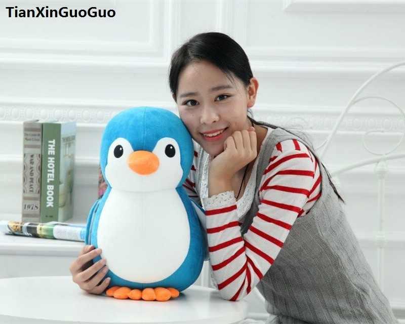 حوالي 30 سنتيمتر جميل الكرتون الأزرق البطريق أفخم لعبة الدهون البطريق لينة دمية هدية عيد s0576