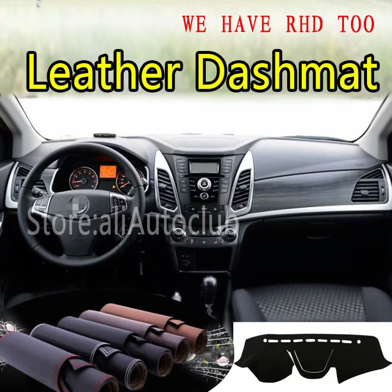 For SsangYong Korando 2010 2011 2015 2016 2017 2018 2019 Leather Dashmat Dashboard Cover Dash Carpet Custom Car Styling LHD+RHD image
