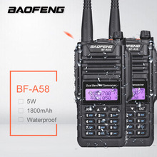 2Pcs Baofeng BF-A58 High Power 5W Walkie Talkie Waterproof uv-9R Dual Band a58 SDR HF Radio Transceiver Amateur Station