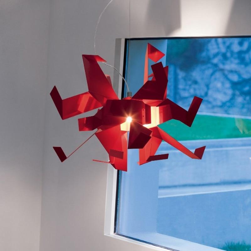 Moderne créatif en forme de conception suspension lampe blanche mille papier grue origami chambre décoration E27 lampe d'éclairage - 5