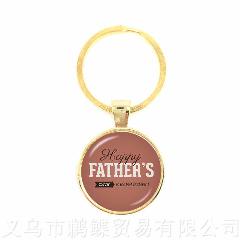 Nova Moda Chaveiros Para O Dia dos Pais Bonne Fete PAPA PAPA Pingente Para Melhores Presentes do Pai EU Amo O Pai