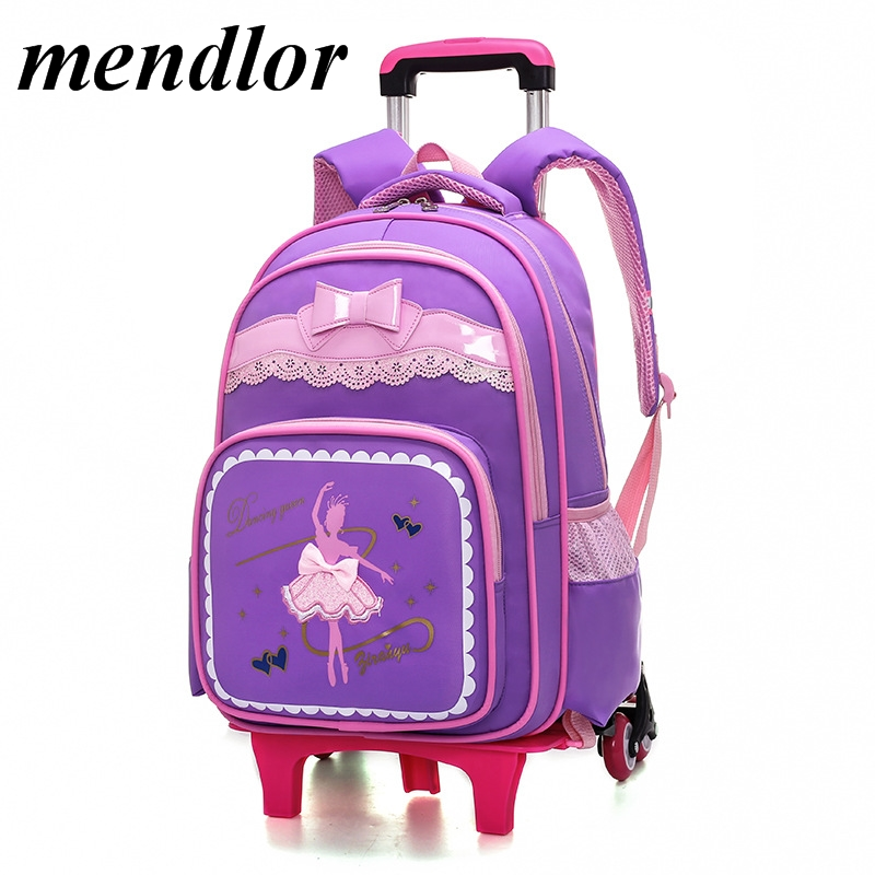 купить Kids Wheels Removable Trolley Backpack Children school bags boys Girls Kids travel luggage book bag Schoolbag Mochilas Escolares недорого