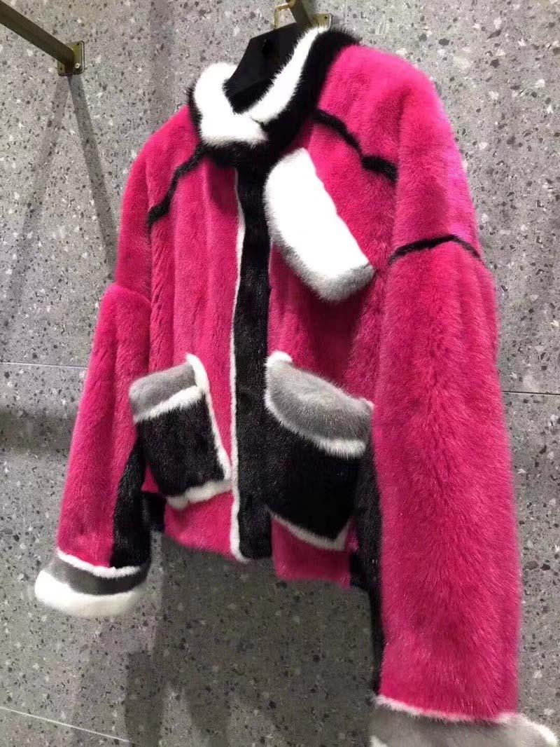 Velours Célébrité Haut Casaco Incroyable De Tempérament D'hiver Réel Couleur Vison Feminino Gamme Manteaux Blocage Veste Femelle Fourrure gxwRrwE6Hq