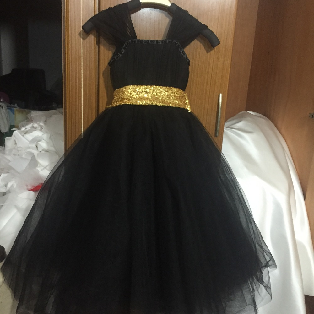 23989967c 2018 fashion Gold Sequin Black Flower Girl Dresses Baby Girl Tutu Dress Bow  Ball Gown Vestido de Daminha Communion Dresses-in Flower Girl Dresses from  ...