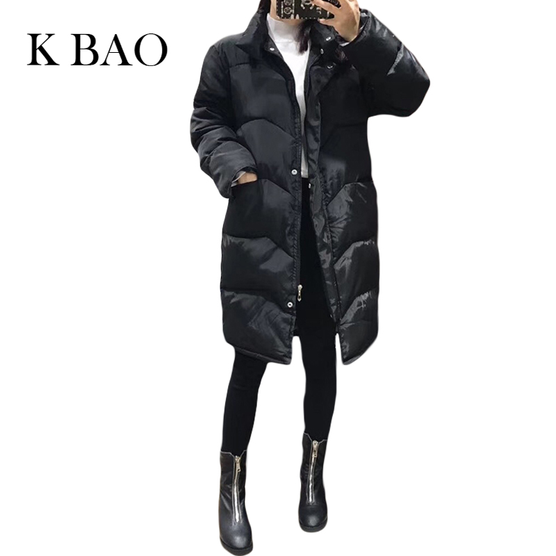 New Winter fashion casual long sleeves thick cotton womens coats  long section girls Stand collar Keep warm Parkas coat female
