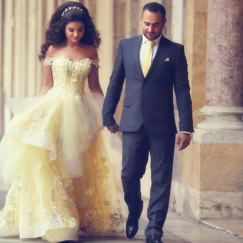 Encaje árabe vestidos de baile vestido longo de festa apliques de flores de tul