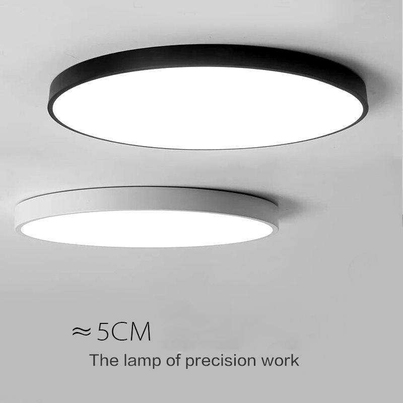 Ceiling lights white color personality interior lighting ceiling lamp for living room bedroom round runner lamp