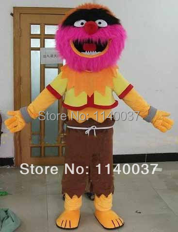 NO.1 MASCOT Muppet Animal Drummer Mascot Costume Adult Size Cartoon Character Mascotte Outfit Suit Fancy Dress Carnival Costume
