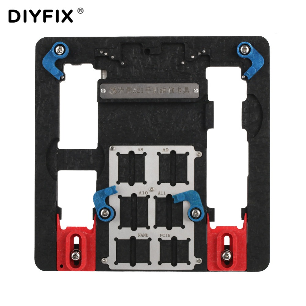 DIYFIX Circuit Board PCB Holder Jig Fixture Work Station for iPhone 8 8P 7 6SP Logic Board A8 A9 A10 A11 Chip Repair Tools roland carriage board for sp 300 sp 300v sp 540 sp 540v printer