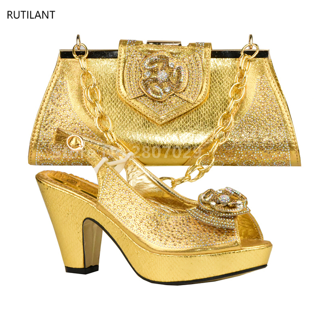 Italian Matching Shoes and Bag Set African Wedding Shoe and Bag Set Italy  Shoe and Bag Set Summer Women High Heels Sandal Shoes-in Women s Pumps from  Shoes ... e7c107927014