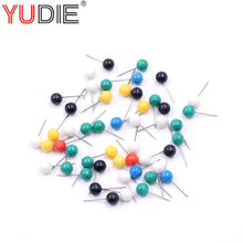 50Pcs Bulk pearl pins mounted spool line group field mounted gear coloration pins four and 6 * 15 * 17 Fishing Deal with Shade