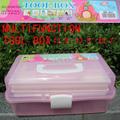 Retail Big Size High Quality Multifunction Tool Box 3 Layers ABS Nail Art Tool Case Storage Box Organizer High Quality