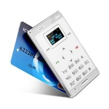 AIEK M3 карты мобильного телефона 6.5 мм ультра тонкий карманный мини телефон Dual Band FM MP3 GPRS low radiation Bluetooth один год гарантии