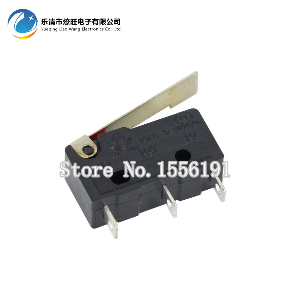 100PCS Limit Switch, 3 Pin Long handle ,N/O N/C High quality All New 5A 250VAC KW11-3Z Micro Switch Factory direct sale