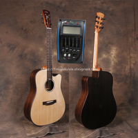41 Half Cutaway Electric Guitars With Solid Spruce Top/Rosewood Body guitarra eletrica With Pickup +20mm cotton bag,JD D318CE